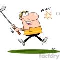 4698-Royalty-Free-RF-Copyright-Safe-Male-Golfer-Hitting-Golf-Ball