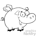 Royalty-Free-RF-Copyright-Safe-Pig-Flying-Cartoon-Character