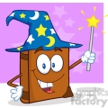 4689-Royalty-Free-RF-Copyright-Safe-Wizard-Book-Cartoon-Character-Holding-A-Magic-Wand