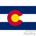 vector state Flag of Colorado