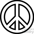 peace symbol outline