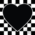 checkerboard heart design 001