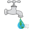 12881 RF Clipart Illustration Leaking Faucet The Earth Planet Droplet