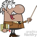 12830 rf clipart illustration african american professor holding a pointer