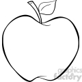 12907 RF Clipart Illustration Cartoon Apple