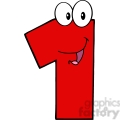 4966-clipart-illustration-of-number-one-cartoon-mascot-character
