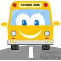 School Bus Cartoon Mascot Character