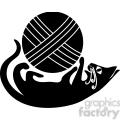 vector clip art illustration of black cat 023  gif, png, jpg, eps, svg, pdf