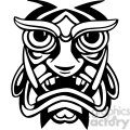 ancient tiki face masks clip art 023