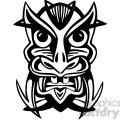 ancient tiki face masks clip art 021