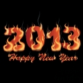 happy new year 2013 flaming  gif, png, jpg, eps, svg, pdf