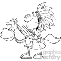 5129-Indian-Chief-With-Gun-On-Horse-Royalty-Free-RF-Clipart-Image