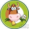 dairy cow cartoon logo mascot gif, png, jpg, eps, svg, pdf