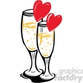 champagne glasses celbrating love