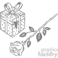rose and a gift gif, png, jpg, eps, svg, pdf