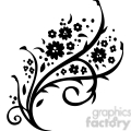 Chinese swirl floral design 041