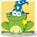 rf wizard frog with a magic wand in mouth