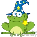 royalty free wizard frog with a magic wand in mouth  gif, png, jpg, eps, svg, pdf