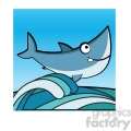 cartoon great white shark clip art jumping from water  gif, png, jpg, eps, svg, pdf