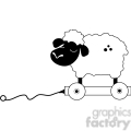 Pull Toy Sheep 2