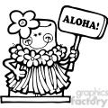 smore hawaiin aloha girl bw  gif, png, jpg, eps, svg, pdf