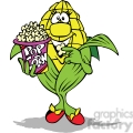 cartoon popcorn character