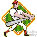 baseball player batting side low diamond  gif, png, jpg, eps, svg, pdf