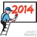 worker painting billboard 2014  gif, png, jpg, eps, svg, pdf