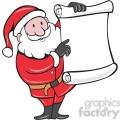 santa holding blank list