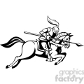black and white knight with jousting lance riding a horse  gif, png, jpg, eps, svg, pdf