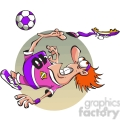 cartoon soccer player losing his shoe