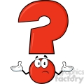 6271 royalty free clip art red question mark cartoon character with a confused expression  gif, png, jpg, eps, svg, pdf