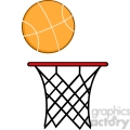royalty free rf clipart illustration abstract basketball hoop with ball