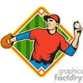 baseballfielder throwingball side diamond half  gif, png, jpg, eps, svg, pdf