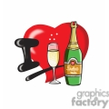 I love champagne cartoon