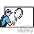 worker magnifying glass billboard search  gif, png, jpg, eps, svg, pdf