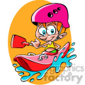 guy kayaking cartoon