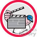director clipboard front in circle shape