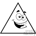 geometry triangle cartoon face math clip art graphics images  gif, png, jpg, eps, svg, pdf