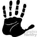 left handprint