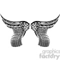 vinyl ready vector wing tattoo design 058