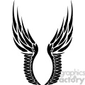 vinyl ready vector wing tattoo design 033