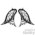 vinyl ready vector wing tattoo design 010