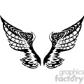 vinyl ready vector wing tattoo design 098