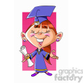 vector cartoon girl graduation