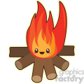 cartoon Fire illustration clip art image