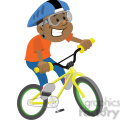 boy riding a bike clip art image