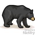 Full body profile of black bear