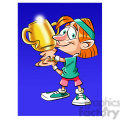 image of man holding trophy nino besando trofeo