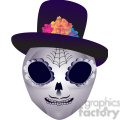Day of the Dead skull head character illustration 2